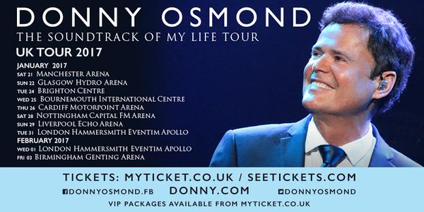 Donny Osmond Hydro 22nd January 2017