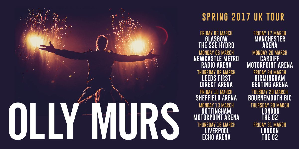 Olly Murs Hydro 3rd March 2017