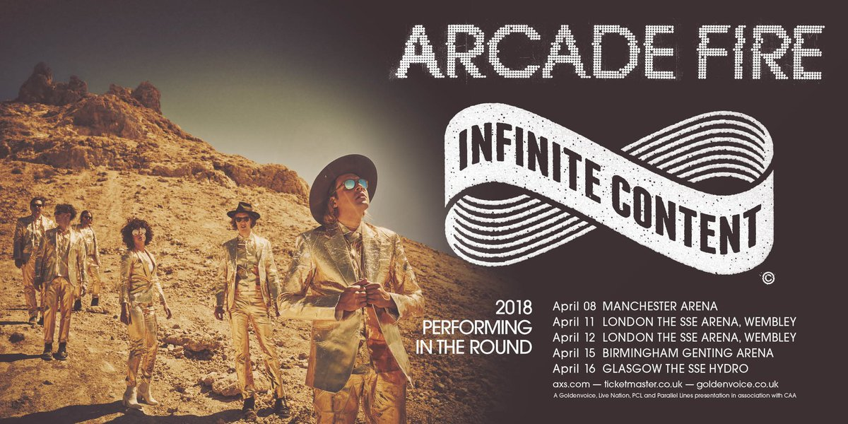 Arcade Fire Hydro 16th April 2018